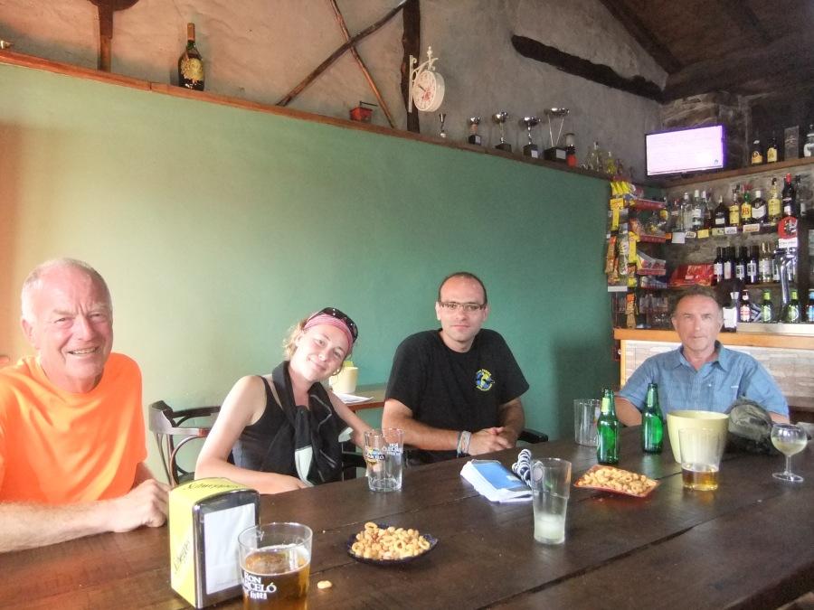 Dinner at albergue at Bodyena