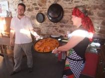 Paella at aubergue at Ferreira